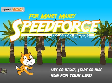 Speedforce: Ein Jump-and-Run Spiel für Makey Makey